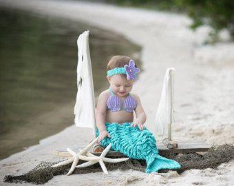 Apoyo de foto de sirena, traje de sirena, traje de bebé sirena, traje de sirena para niños pequeños