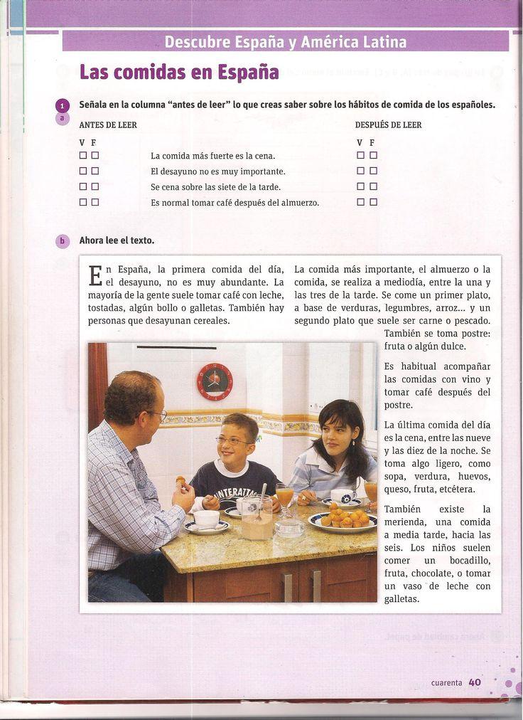 Las comidas en España