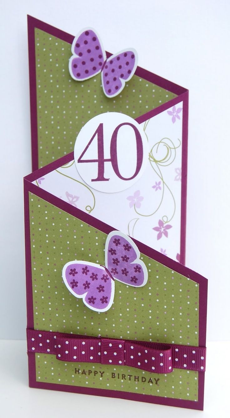 Cool Card Folding | Cool tri-fold card. | Cards - Spring