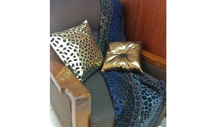Get into the Ultra-Snob Feel....  Pictured here are Zephyrus-Gold and Aurora-Bronze Cushions