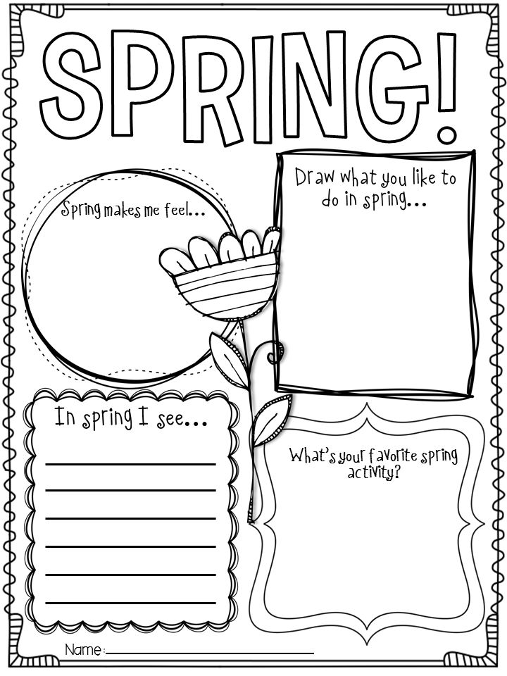 spring writing activities Students can often struggle with knowing what to write this pack was made to help beginner or struggling writer's use word prompts to help them create sentences based upon all things.