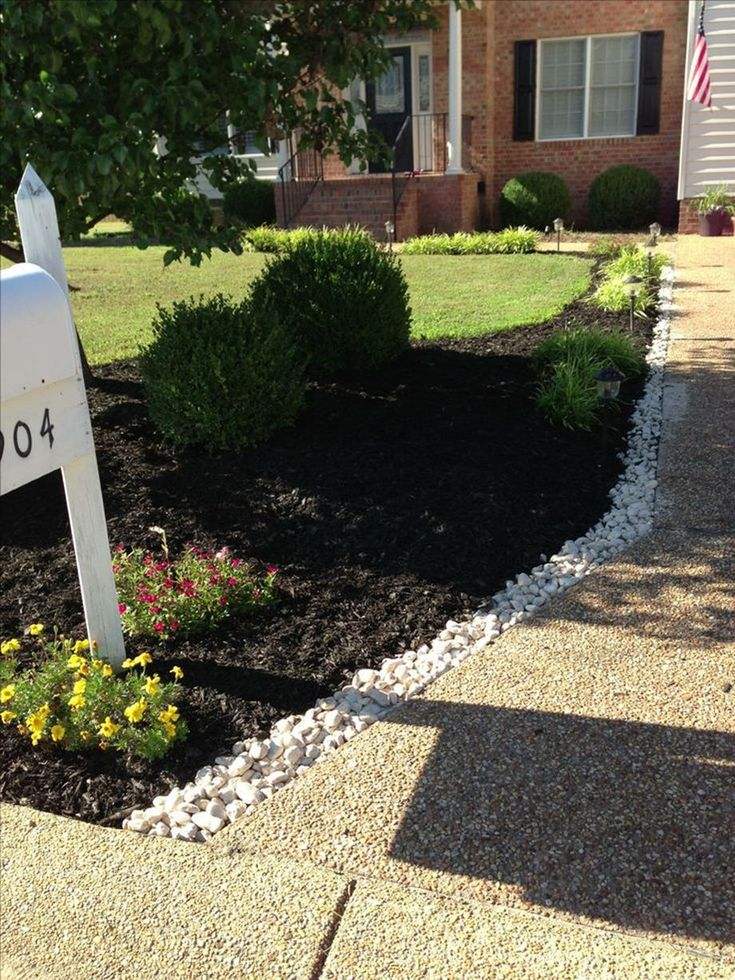 33 Easy and Beautiful Landscaping Ideas With Mulch And Rocks – DecoRelated
