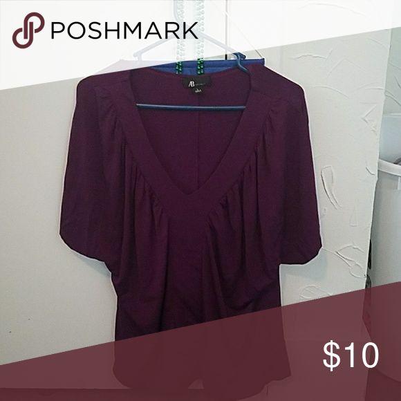 Purple Dress Shirt Purple Short Sleeved Dressy shirt AB Studio Tops
