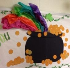 St. Patrick's Day Rainbow Bulletin Board Idea - for our library pole?