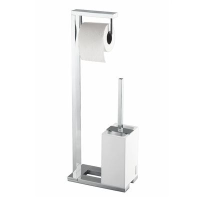 WS Bath Collections Demetra 1901 Demetra Toilet Paper Holder and Toilet Brush Stand