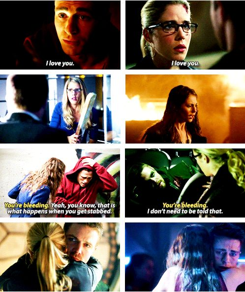 Arrow - Oliver and Felicity - Thea and Roy (the couples I ship the most on Arrow)