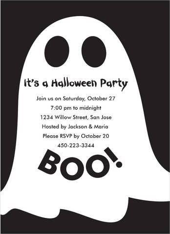 Halloween ghost Invitations