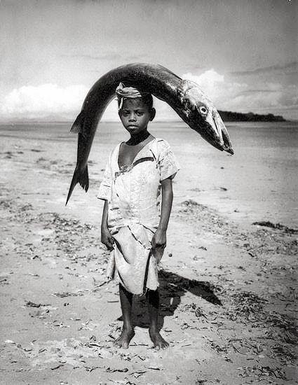 Senegal, Boy and Fish, photo by Angela Kesp