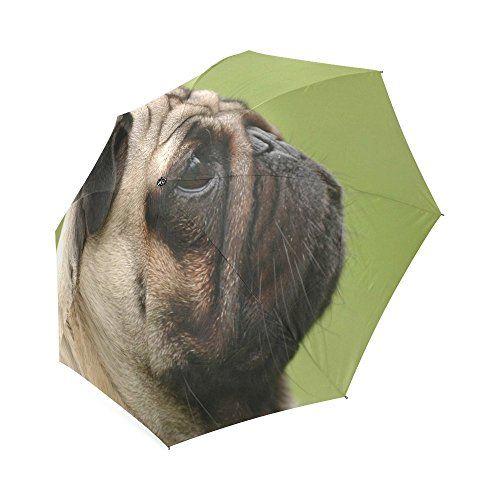 Caliente venta three-folding resistente al viento paraguas Funny Pug perro portátil plegable paraguas para hombres - http://comprarparaguas.com/baratos/de-perro/caliente-venta-three-folding-resistente-al-viento-paraguas-funny-pug-perro-portatil-plegable-paraguas-para-hombres/