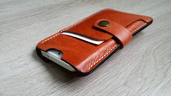 Check out this item in my Etsy shop https://www.etsy.com/nl/listing/238511331/leather-iphone-55s-cover