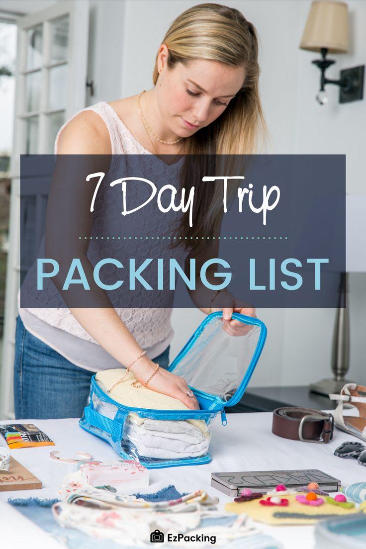 7 Day Trip Packing List: Mude sua vida com esses truques de viagem   – The EzPacking Blog