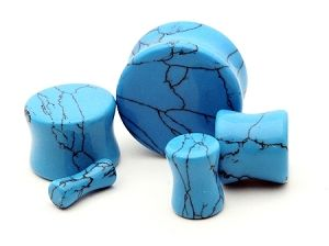 Turquoise Stone Plugs   www.mysticmetalsretail.com