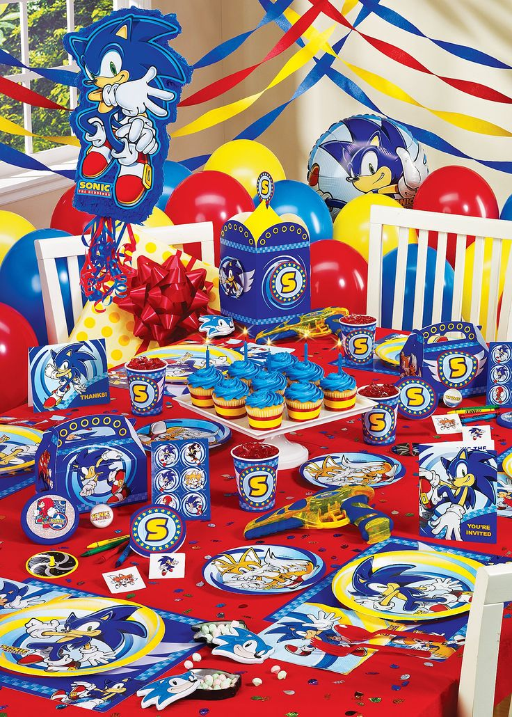 Sonic the Hedgehog -- colors-- red, yellow, blue