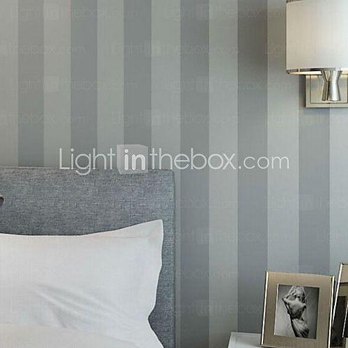 neue rainbown ™ modernen Tapeten Streifen grauen Streifen gestreifte Tapete Wandverkleidung Vlies Wandkunst - EUR € 30.81