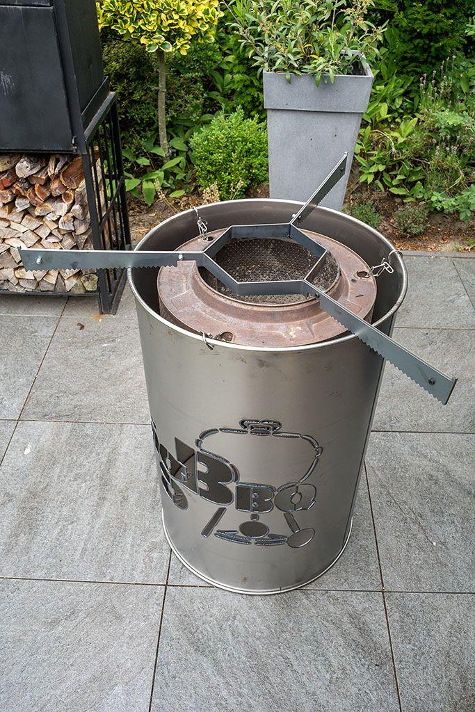 Komplettset Feuerplatte 100 Cm Und Feuertonne Von Grillrost Com Bigbbq De Feuertonnen Feuerplatte Grilltonne