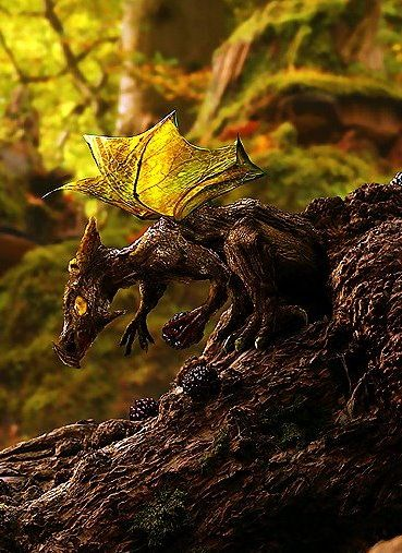 make a resin creature to sit on a tree with leaves for wings.. for the hidden garden