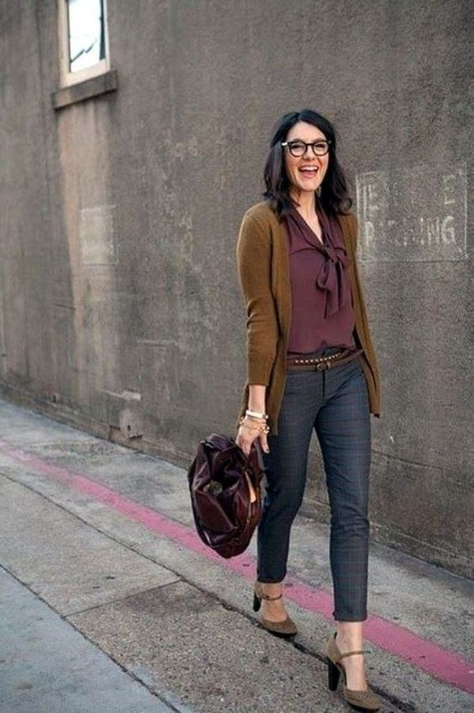 Pretty Cardigan Outfit Ideas For Fall 2019 12