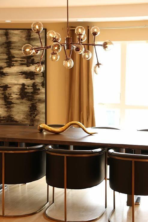 kenneth byrd design dining rooms arteriors calvin top leather armchair mid century modern dining room lightingmodern - Dining Room Light Fixtures Modern