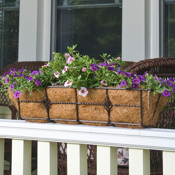 Cobraco 24 inch deck railing planter with