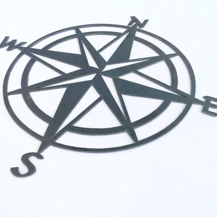 "12"" Metal Compass Home decor by JackJacksMetal on Etsy https://www.etsy.com/listing/524072049/12-metal-compass-home-decor"