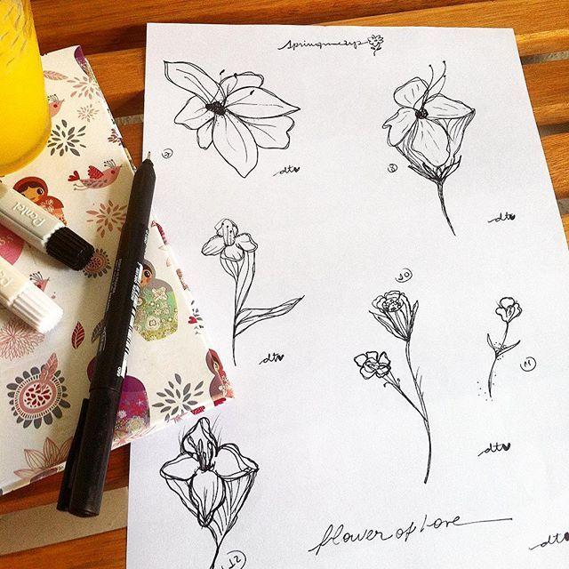 últimos rascunhos! qq desenho pode virar tattoo por apenas $80!!! vem celebrar a primavera, curtir um rabisquinho, tomar um café comigo... marcações válidas apenas para sexta e sábado, 23/24 de setembro, no email: 💌deboracomd@gmail.com💌 . . . #love #spring #flashtattoo #delicated #flower #saicoltattooshop #teamsaicoltattooshop #draw #deawingflowers #lovely #tattoogirls #debycomd #urbanjungle #inspiration #modicesinspira #tonoadorofarm #mysketch #coolpic