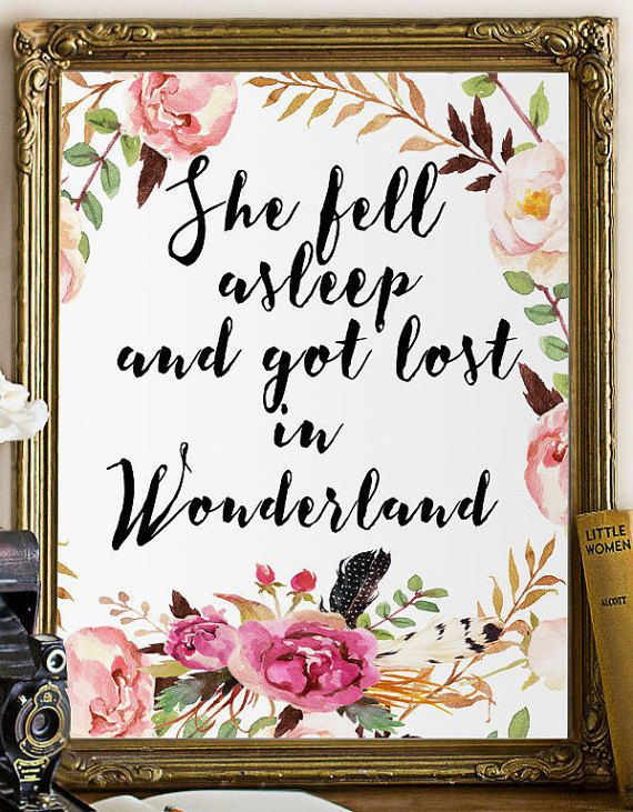She fell asleep and got lost in Wonderland. Alice in Wonderland Nursery…