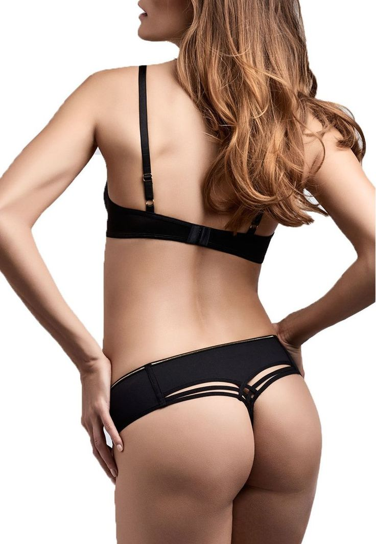 Marlies Dekkers Dame de Paris Black Gold thong (18552) available in Mambra / Stringi Dame de Paris Black Gold dostępne w Mambra.