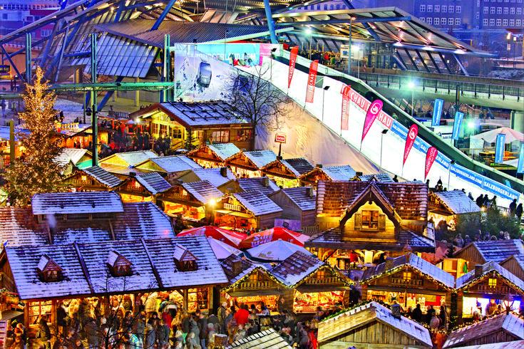Kerstmarkt CentrO Oberhausen, Oberhausen, Duitsland
