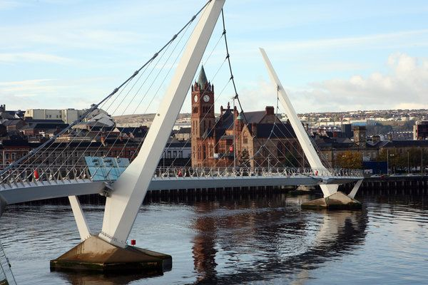 Where Irish 'Troubles' Began, the Arts Heal - NYTimes.com  The New Peace Bridge, which links traditionally Protestant and Catholic areas in Derry, Northern Ireland.