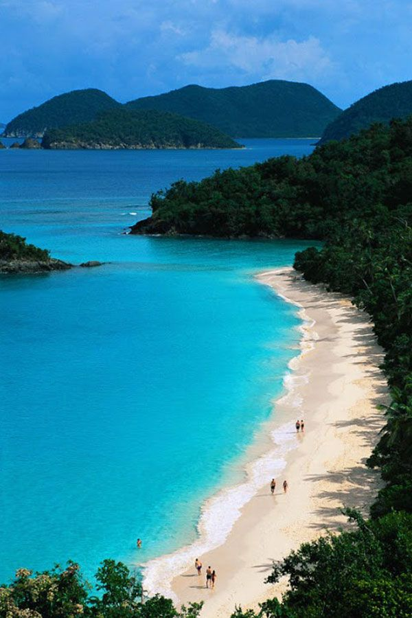 Trunk Bay, St John, US Virgin Islands This is more beautiful in person, loved it there!