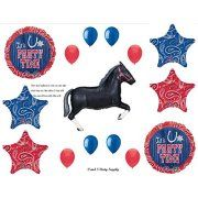 WESTERN HORSE BANDANA Birthday PARTY Hoedown Rodeo Balloons Decorations Supplies by Anagram