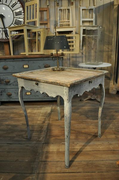18th century painted game table