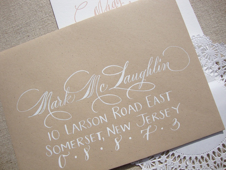 Best hand lettered envelopes images penmanship