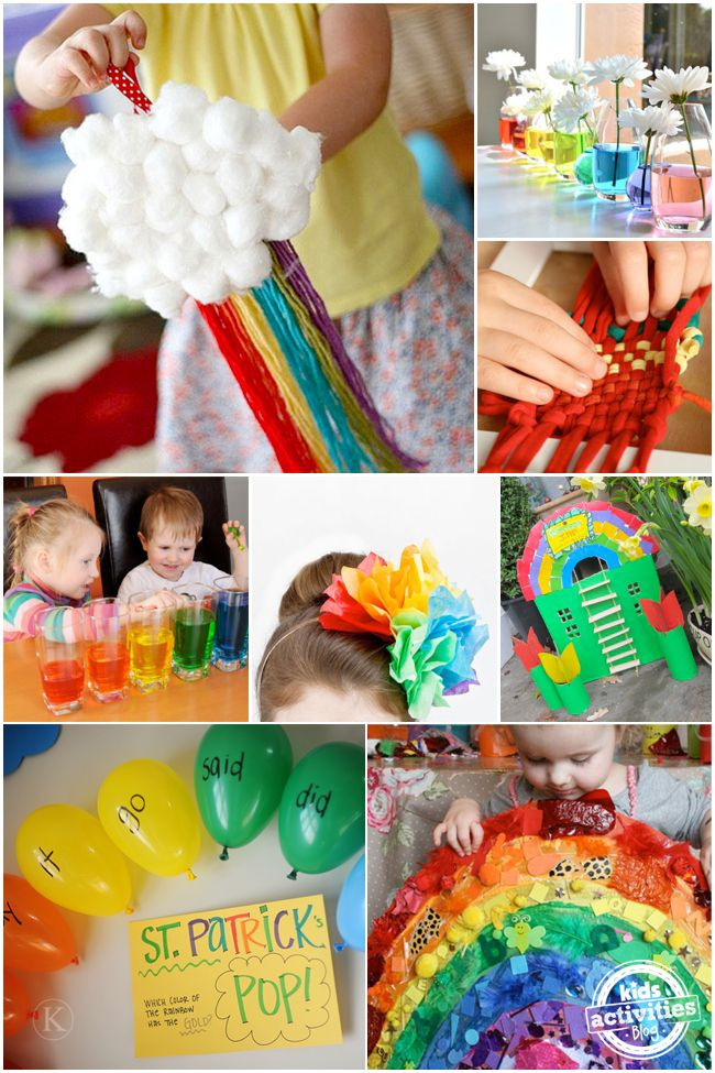 Celebrate the rainbow with 21 fun and colorful rainbow crafts and sensory activity projects for little ones. Spring, St Patrick's Day or any day the rainbow is always welcome in our house xx