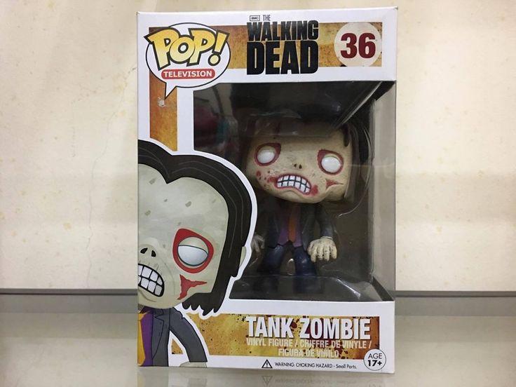 Funko Pop Walking Dead Tank Zombie #36 Vaulted, Retired, NEW IN BOX, RARE
