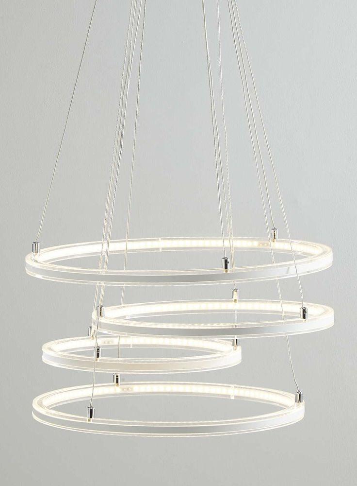 Photo 1 of white katya led cluster ceiling light