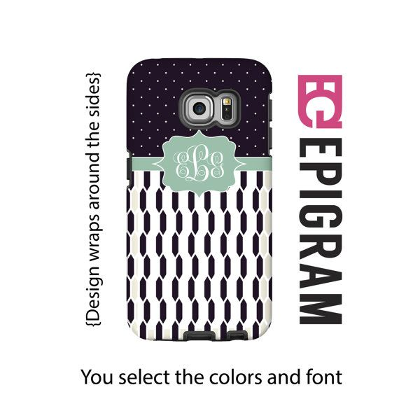 Hey, I found this really awesome Etsy listing at https://www.etsy.com/listing/239481383/monogram-samsung-galxy-s6-edge-case