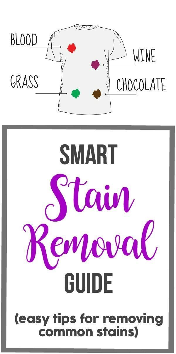 Stain removal tips. How to remove wine, blood, grass, chocolate and more from clothing!