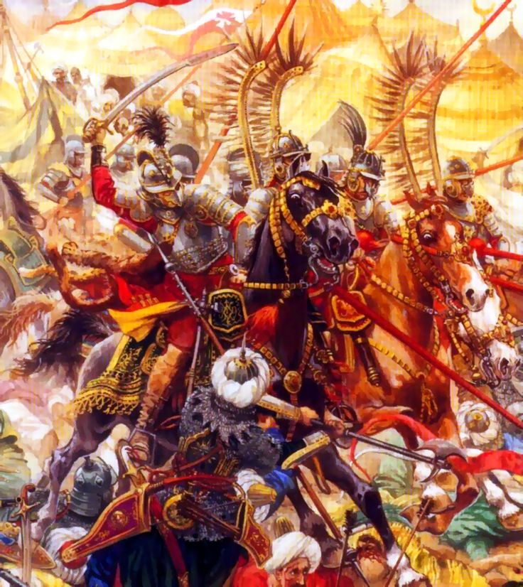 Charge of the Polish Winged Hussars against Ottoman encampment during the Siege of Vienna