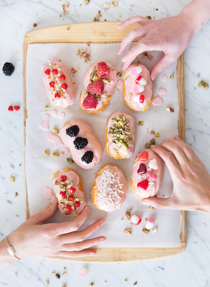 these mini eclairs are seriously the cutest desserts ever