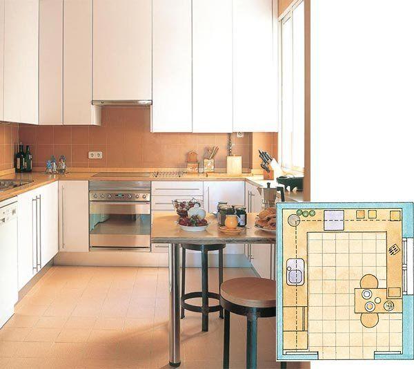 M s de 1000 ideas sobre cocina cuadrada en pinterest - Mesa cocina cuadrada ...