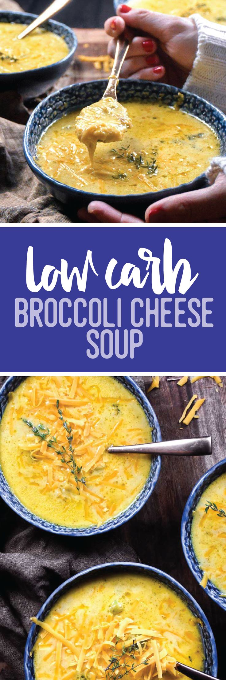 Comfort in a bowl, this low carb broccoli cheese soup will warm you from the inside out!