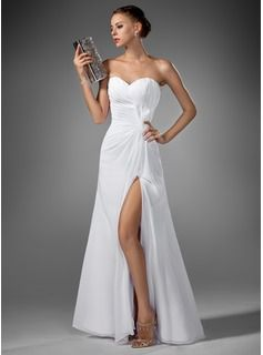 Special Occasion Dresses - $154.99 - A-Line/Princess Sweetheart Floor-Length Chiffon Evening Dress With Ruffle  http://www.dressfirst.com/A-Line-Princess-Sweetheart-Floor-Length-Chiffon-Evening-Dress-With-Ruffle-017022520-g22520