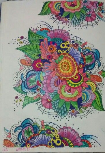 """Vigésima segunda ilustração de """" O livro anti-insônia"""". The can't Sleep Colouring Book ( Creative Colouring for Grown-Ups."""