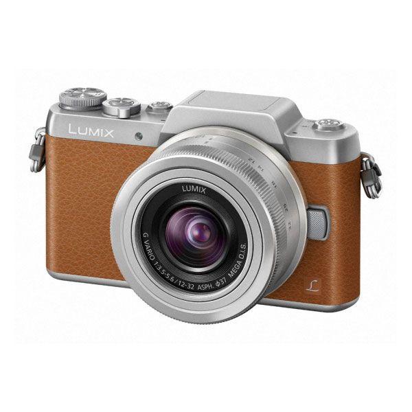 Appareil photo hybride Panasonic DMC-GF7 + 12-32 mm Caramel/Argent Appareil photo 16 MP - Zoom numérique x4 - Vidéo Full HD - Wi-Fi intégré - Ecran inclinable à 180°