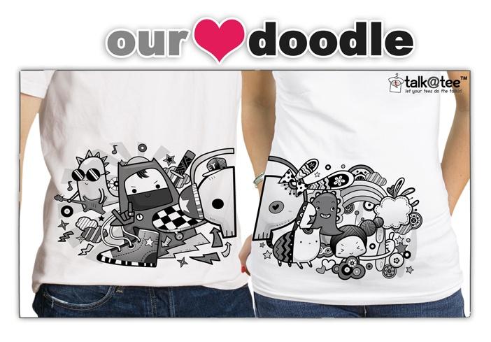 Couple Shirt: Our Doodle | Let your tees do the talkin' | T Shirt Design