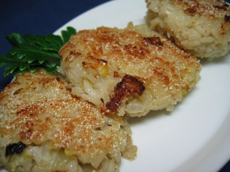Fried Artichoke Rice Cakes with Manchego adapted from Spain Recipes _ Manchego is a grassy, crumbly sheep cheese produced in the La Mancha region of Spain.