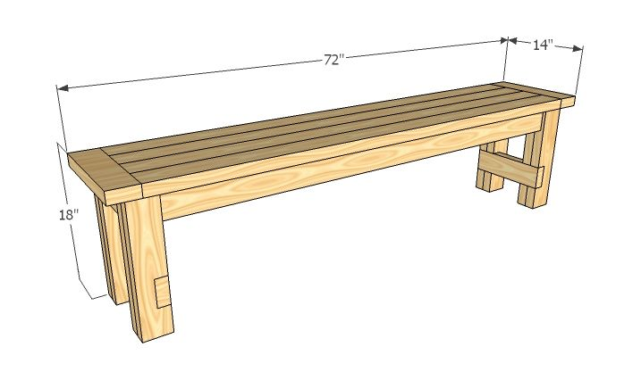 Another bench plan. This site has a ton of plans for almost anything you can think of. And she's a Kreg jig user!