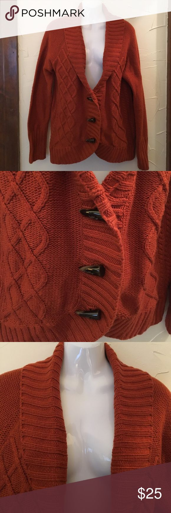 Market & Spruce Orange Sweater Big and Comfy Orange Sweater. Has three buttons. Size Large, so it hangs funny on the mannequin. Super comfortable and probably meant to be a bit oversized. Brand New from the fashion subscription box Stitch Fix. Market & Spruce Sweaters Cardigans