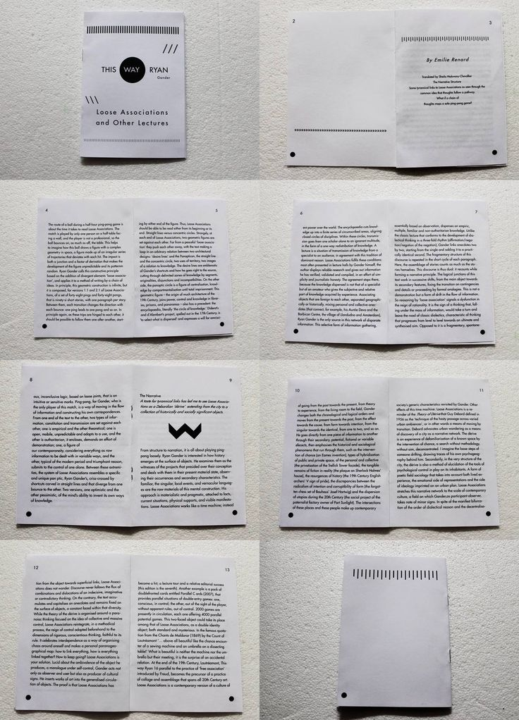 booklet sequence, artwork, graphic design, project, black and white, this way ryan